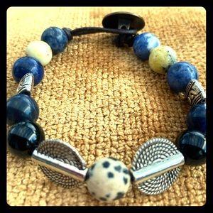 Natural Stone Button Bracelet